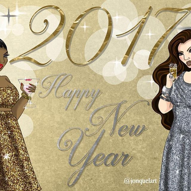 Happy New Year and many blessings!!!! #jonquelart #newyear #2017 #illustration #glitter #plussize #plussizefashion #fashionillustration #art #curves #nycart #nycartist #champagne #newyear2017 #newyeareve #nyc #party #honormycurves