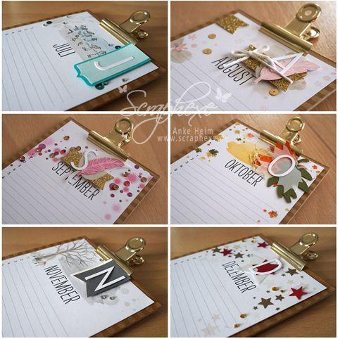 projektset kalenderkunst teil 2 paper crafts pinterest