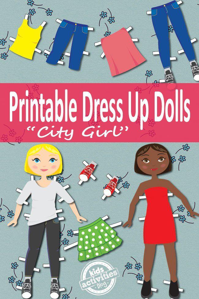 Dress Up Dolls Free Kids Printable Printables