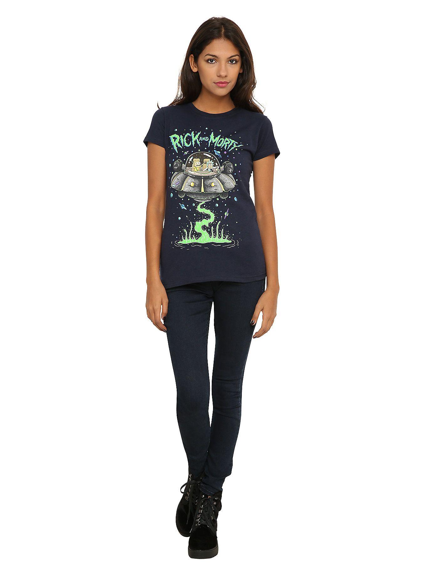 ca160103 Rick And Morty Spaceship Girls T-Shirt   rick and morty   Rick ...