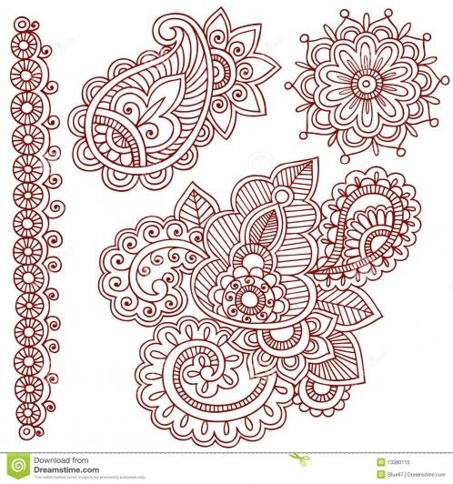 Mehndi Hand Outline : Free tattoo outline designs hd henna mehndi paisley