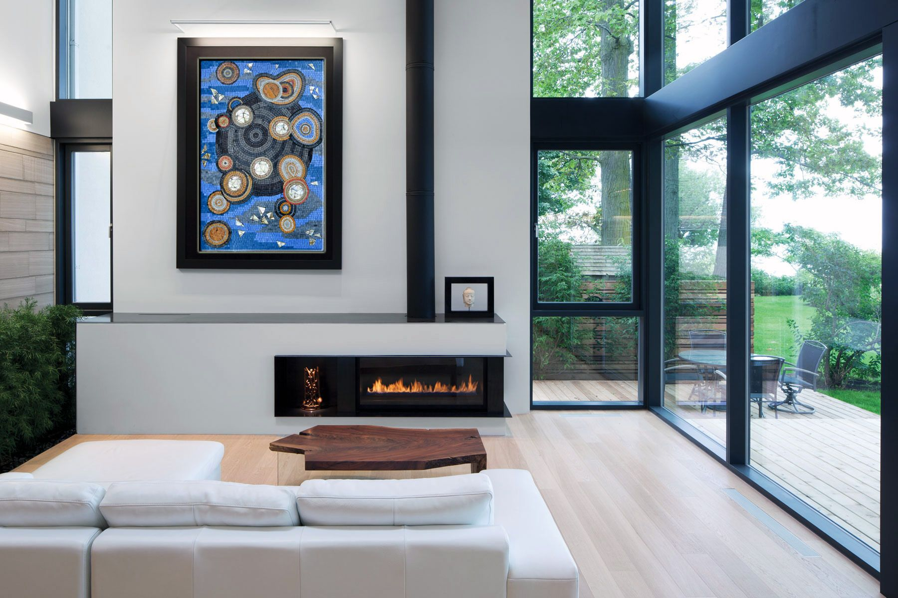 Exterior window wall design abstract mosaic art  mosaic universe  abstract wall art mosaic