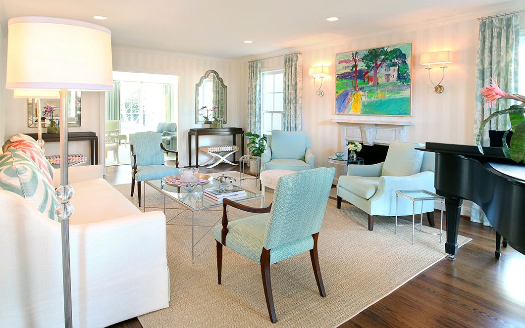 Blues And Greens In A Living Room  Living Room Inspiration Fair Living Room Turquoise Inspiration