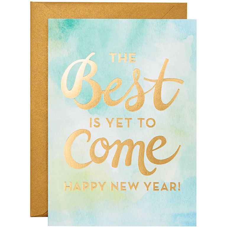 new year greeting card for friends