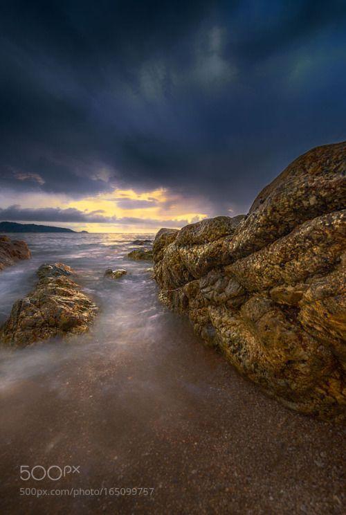 >> by jaysjays landscape sunset beach rock thailand phuket wave seascape cloud strom >> jaysjays