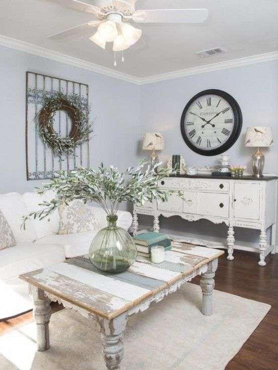Idee per arredare un soggiorno in stile shabby chic in 2018 | shabby ...