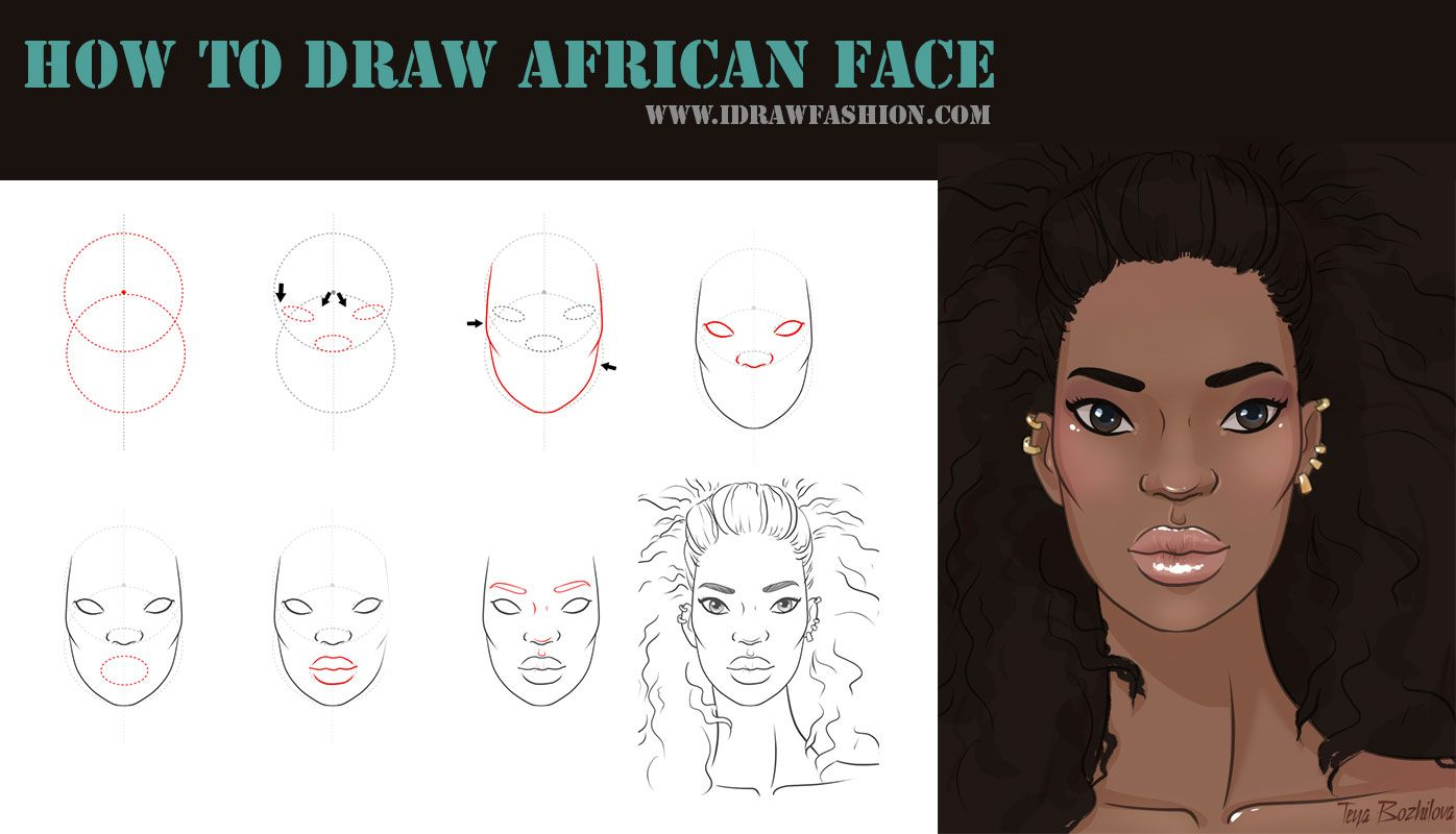 It's just a graphic of Satisfactory Drawing African American Faces