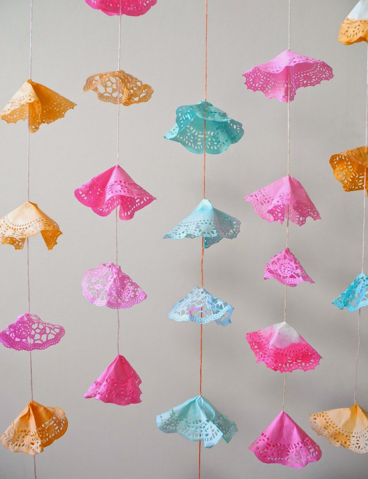 One Bunting Away: Paper Doilies Garlands