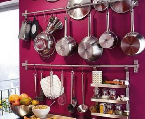 11 Fun And Creative Ways To Hang Cooking Utensils In A Small Kitchen Drying Rack On The Wall