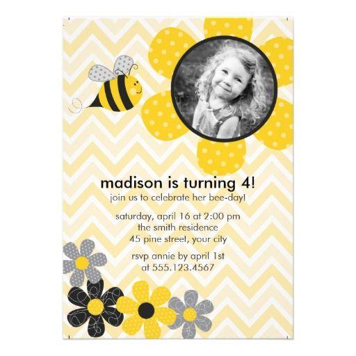 20 best bumble bee birthday invitations