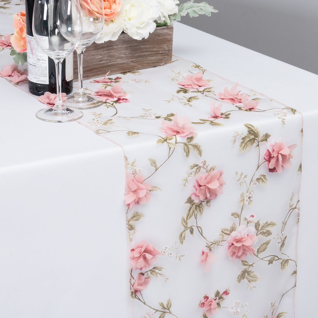 14 X 108 In Sheer With Pink Roses Table Runner Tea Party Bridal Shower Decorations Tea Party Bridal Shower Garden Bridal Shower Themes
