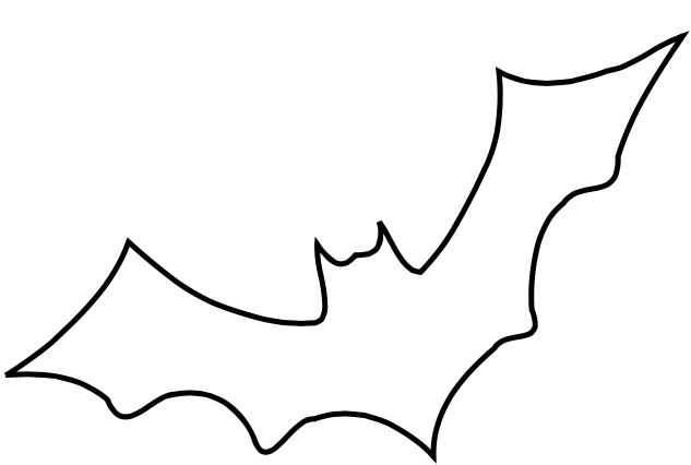 Bat easy. Outline google drive halloween