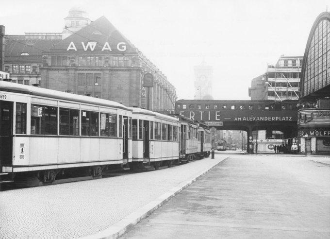 1939 Alexanderplatz Mit Blick Zur Koenigstrasse Richtung Rotes Rathaus Germany Berlin Germany Berlin