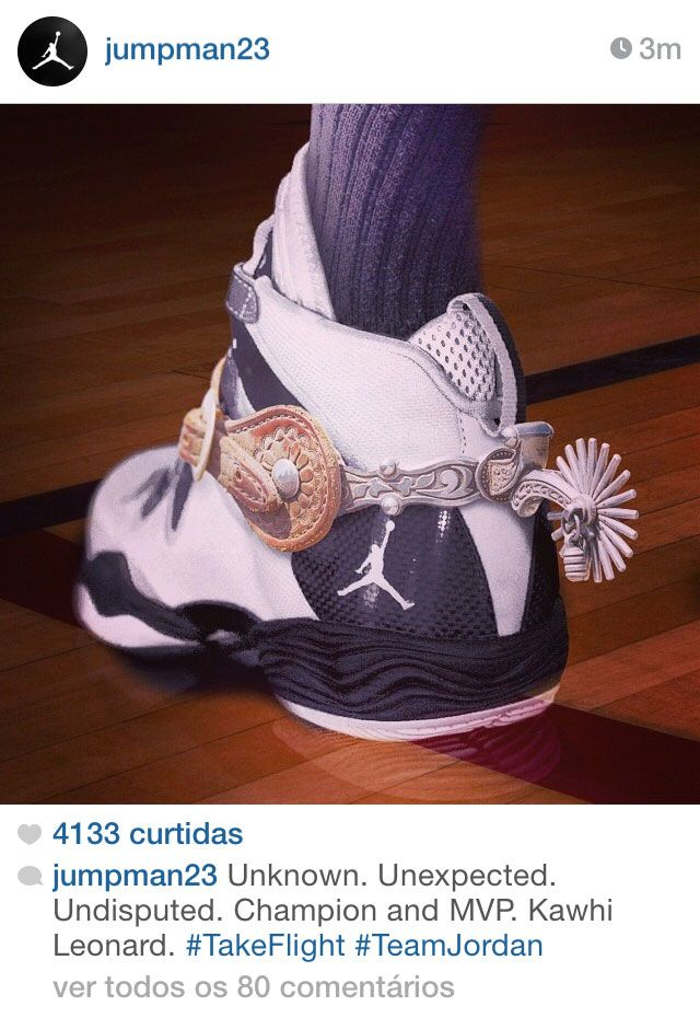 Jumpman Instagram's post for NBA Champs Spurs. Nike Air Jordan XXVIII SE PE  NBA Finals