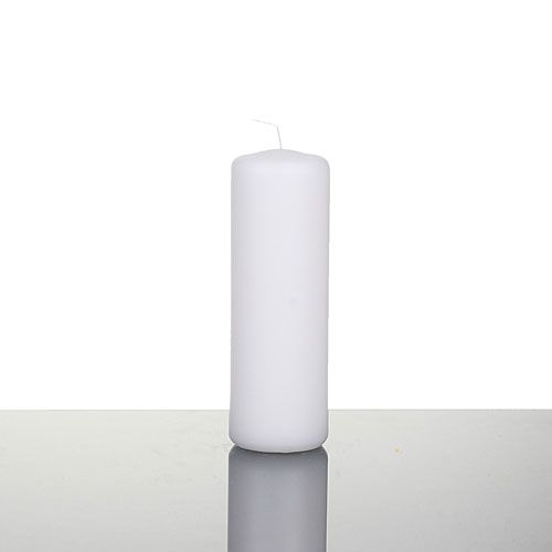 Bulk Wholesale Unscented White Pillar Candles 2 x 4-1/2 - Qty (36)