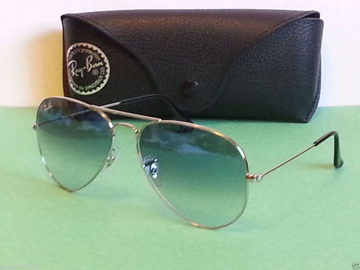 6a1df5d22831 Ray-Ban  sunglasses RB3025 aviator Large Metal 003 with blue gradient lens  NEW visit