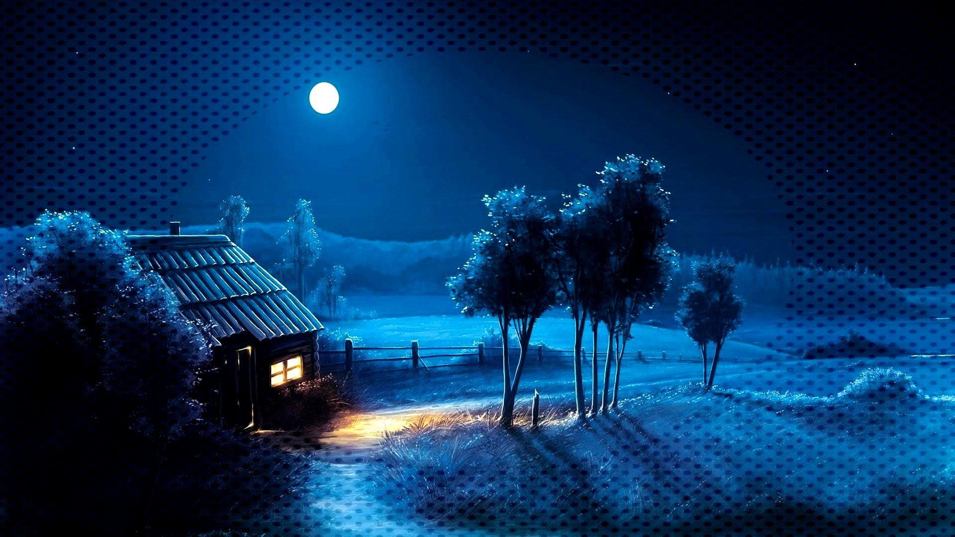 Hdwallpaper Moonlight Landscape Wallpaper Darkness Fantasy