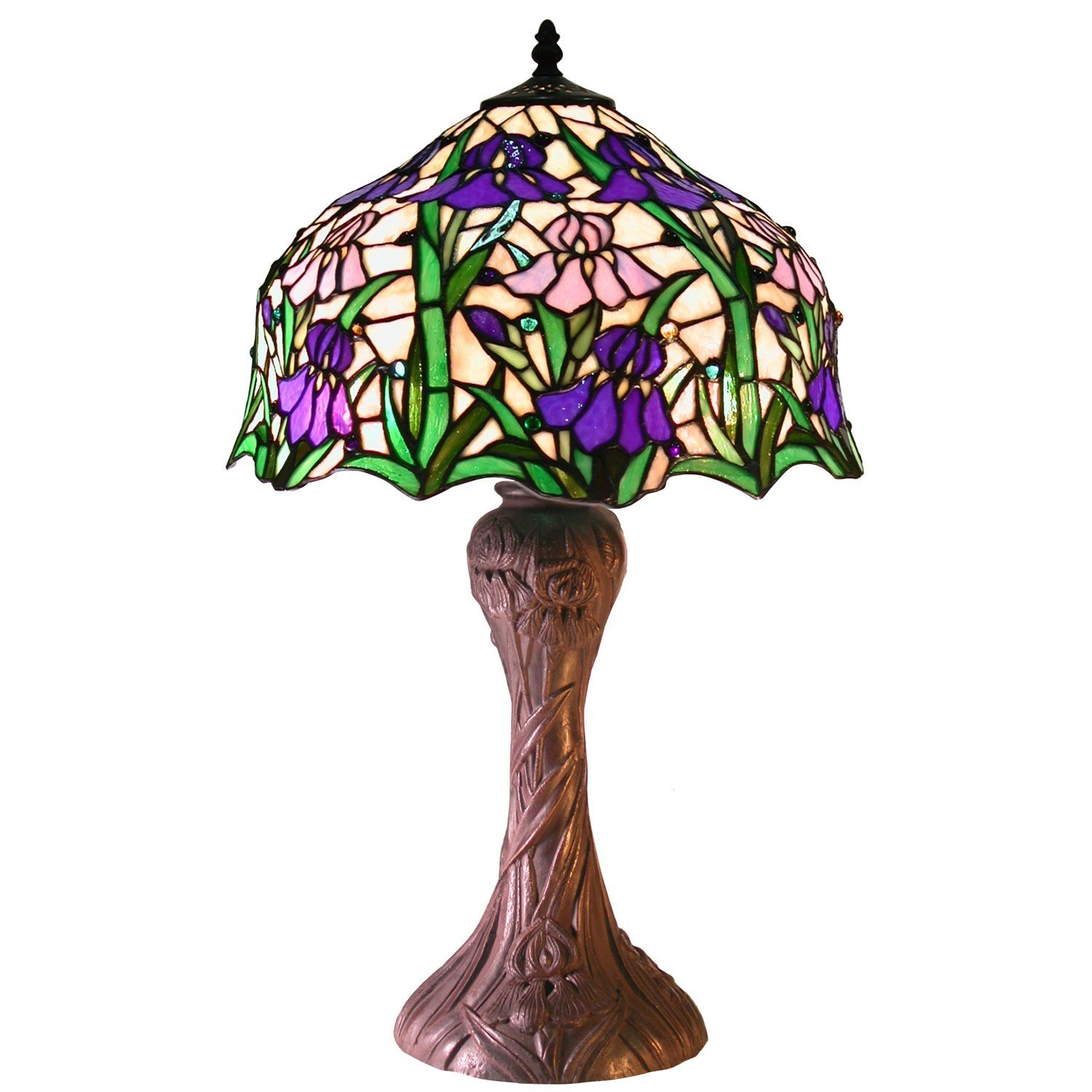 Purple Table Lamp Pleasing Tiffanystyle Iris Table Lamp  Products  Pinterest  Iris Tiffany Inspiration Design