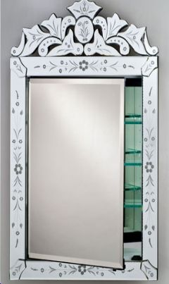Bon Afina Radience Venetian Single Door Cut Traditional Medicine Cabinet