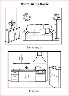 Learning Is Fun House Worksheets Dependencias De La Casa