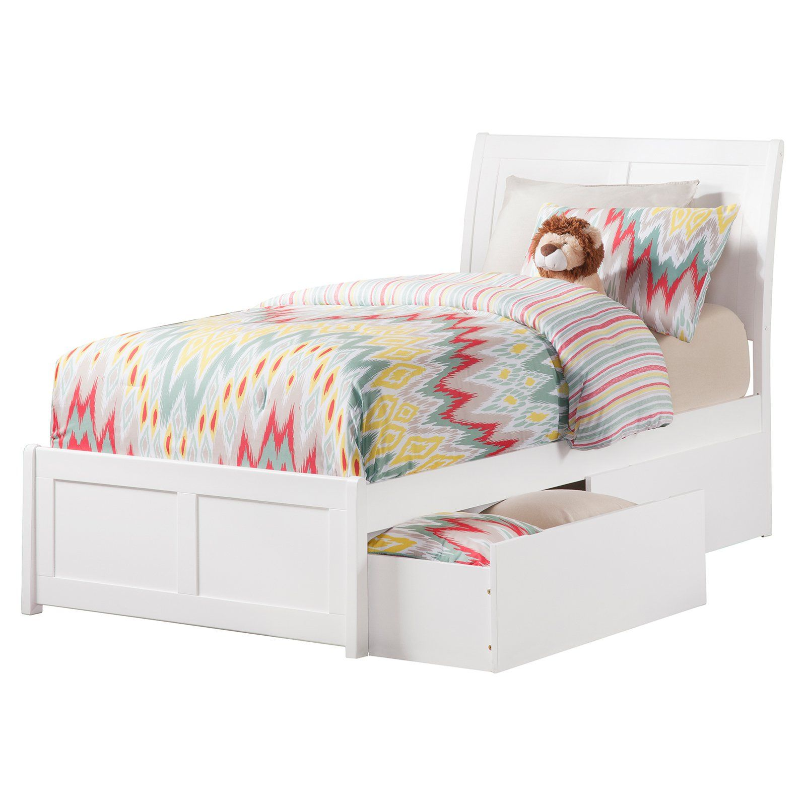 Atlantic Furniture Portland Platform Bed With Matching Foot Board