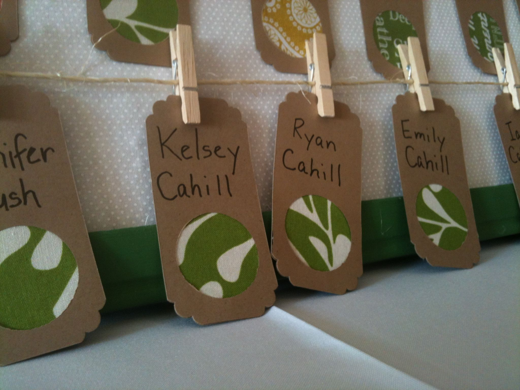 Cool, easy nametags! These were at a wedding I was privileged to take photos at with Lisa De Jager.