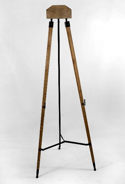 set of two wood floor standing easels 63"