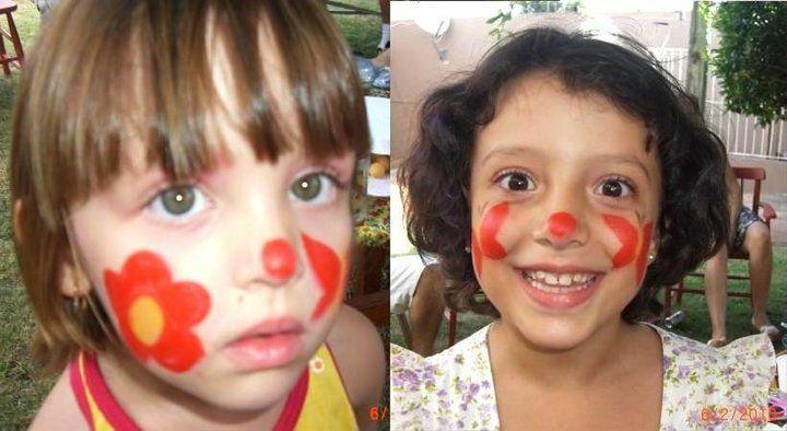 Fer e Aninha maquiadas em festa de aniversário da Ana Letícia (2010)