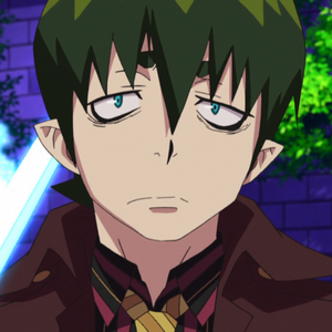 Okay, here is Amaimon. He is so awesomely funny and hyper active. He's very cocky and arrogant too, but he's more on the playful side. He doesn't usually look this glum :3  THIS guy is my favourite character in Blue Exorcist