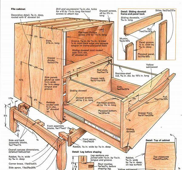 Diy File Cabinet, Wooden File Cabinet Plans