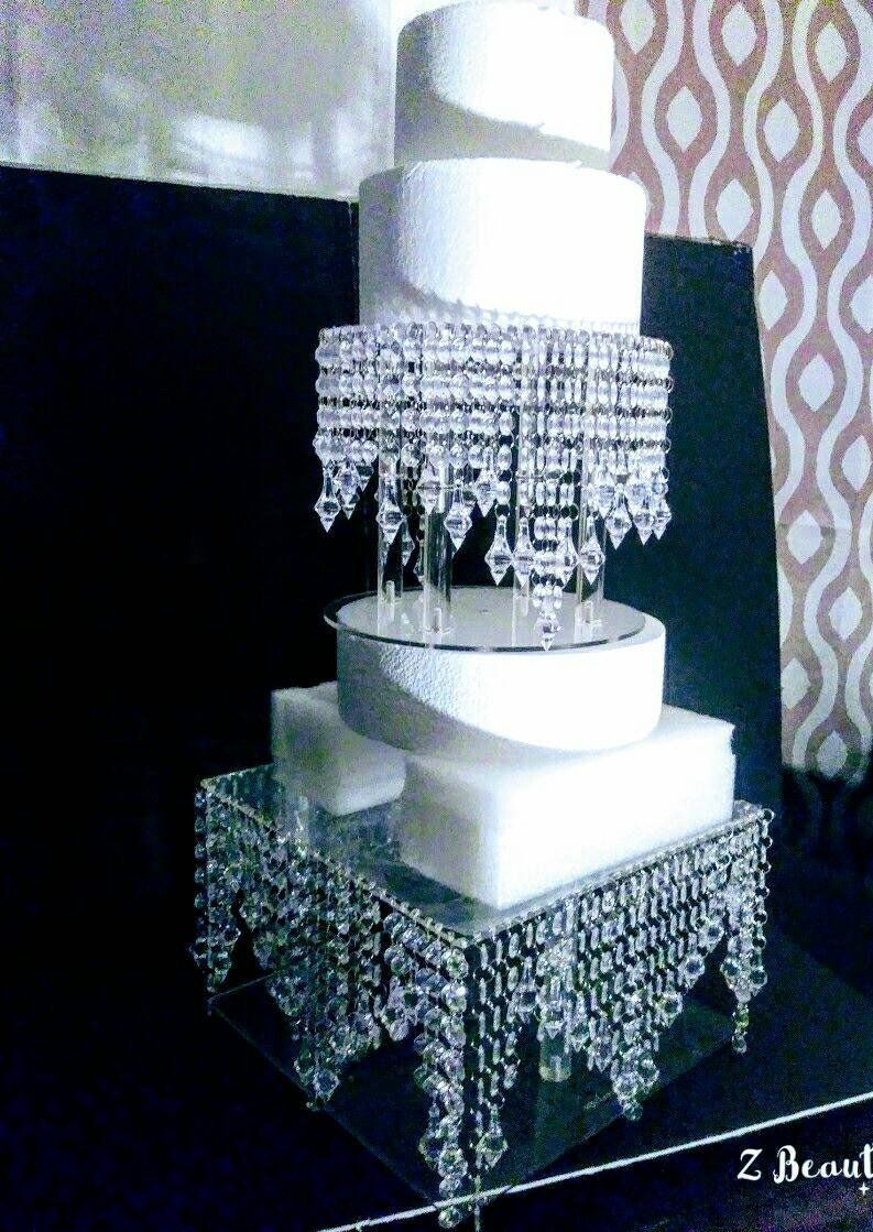 set waterfall wedding cake stand sweet sixteen pinterest