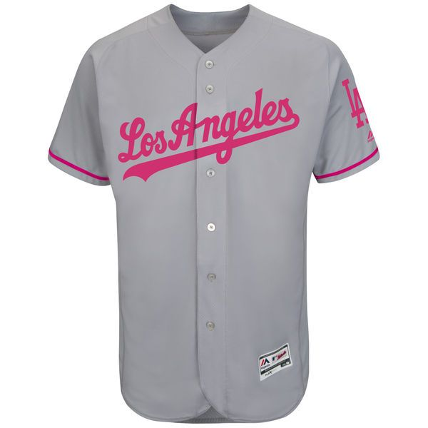 d24098b27 Los Angeles Dodgers Majestic Fashion 2016 Mother s Day Flex Base Team Jersey  - Gray -  195.99