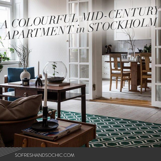 New section on the blog: House Tours! First up: This comfortable and colourful Scandinavian mid-century apartment in Stockholm! Head to bit.ly/housetourdebut to check it out!