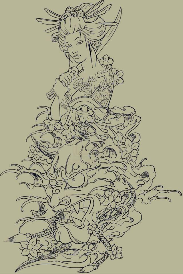 Eccezionale disegno geisha - Cerca con Google | Disegni di tatuaggio, Tatuaggi ZK14