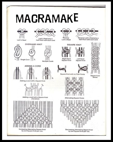 Instructions Macrame Macrame Macrame Patterns