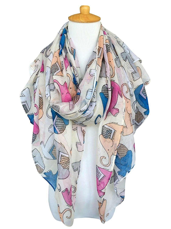 4d2fd9e4f879e Animal Print Scarves: Cute Elephant Pattern Wrap Scarf For Women - Cute  Beige - C912M25WDQB - Scarves & Wraps, Fashion Scarves #Scarves #Wraps ...