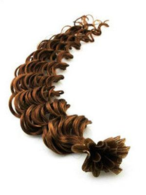Cheap curly u tip human hair extensions 8 32 inches medium cheap curly u tip human hair extensions 8 32 inches medium golden brown pmusecretfo Images