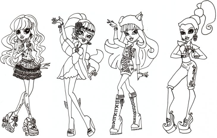 Printable Image Of Monster High To Color Online