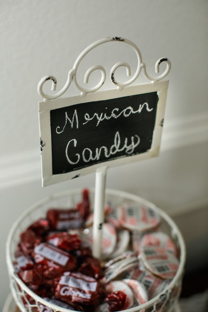 Small Chalkboard Signs To Label Wedding Food Mexican Wedding Treat