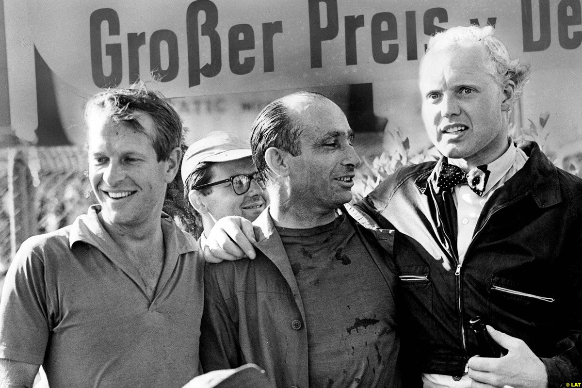 Peter Collins, Juan Manuel Fangio, Mike Hawthorn