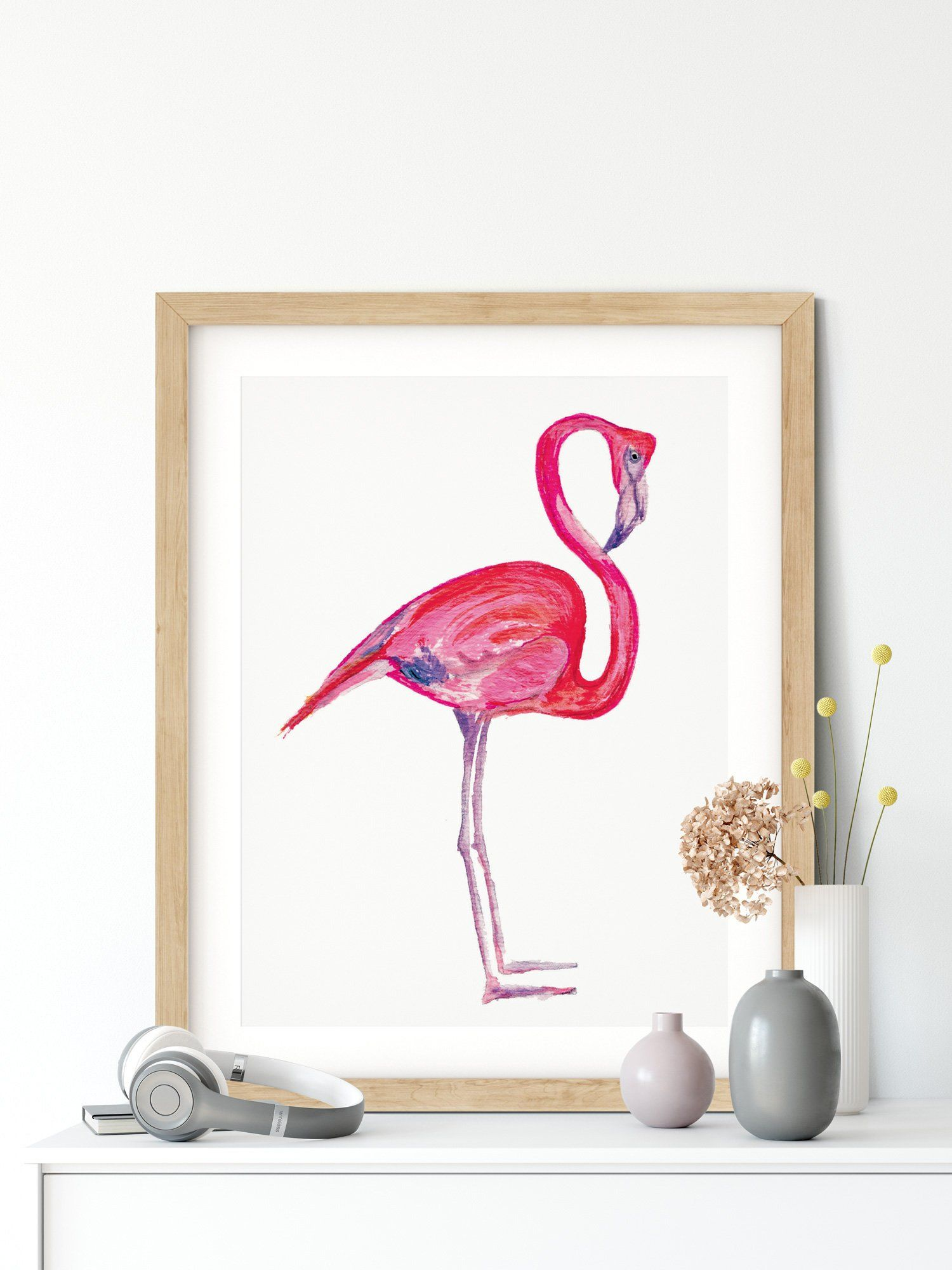 Printable Art Flamingo Pink Flamingo Wall Art Print Flamingo Poster Pink Flamingo Wall Art Tropical Printable Art Flamingo Art Print Flamingo Wall Art Flamingo Art