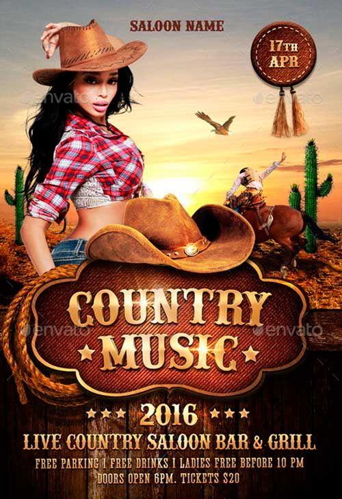 Country music flyer ideas for jason pinterest music flyer country music flyer music flyertemplates freeflyer saigontimesfo