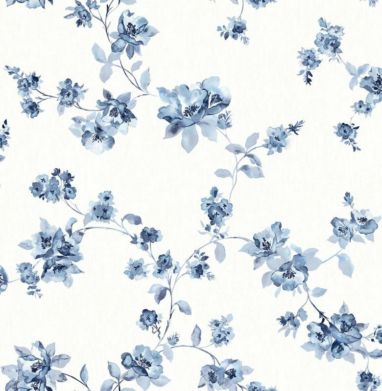 Cyrus Blue Floral 3115 24481 Brewster Wallpaper In 2020 Blue