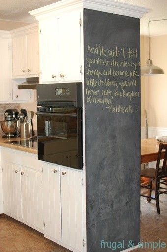 glamorous chalkboard wall kitchen | I love this blackboard idea for the kitchen! | decorate a ...