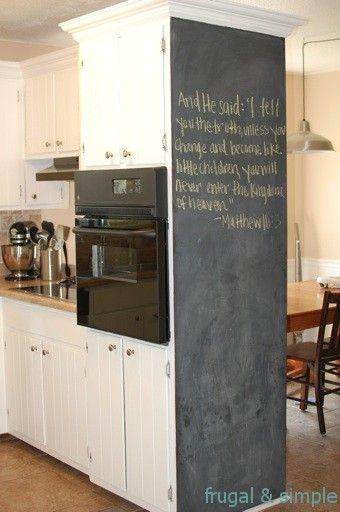 I Love This Blackboard Idea For The Kitchen Decorate A