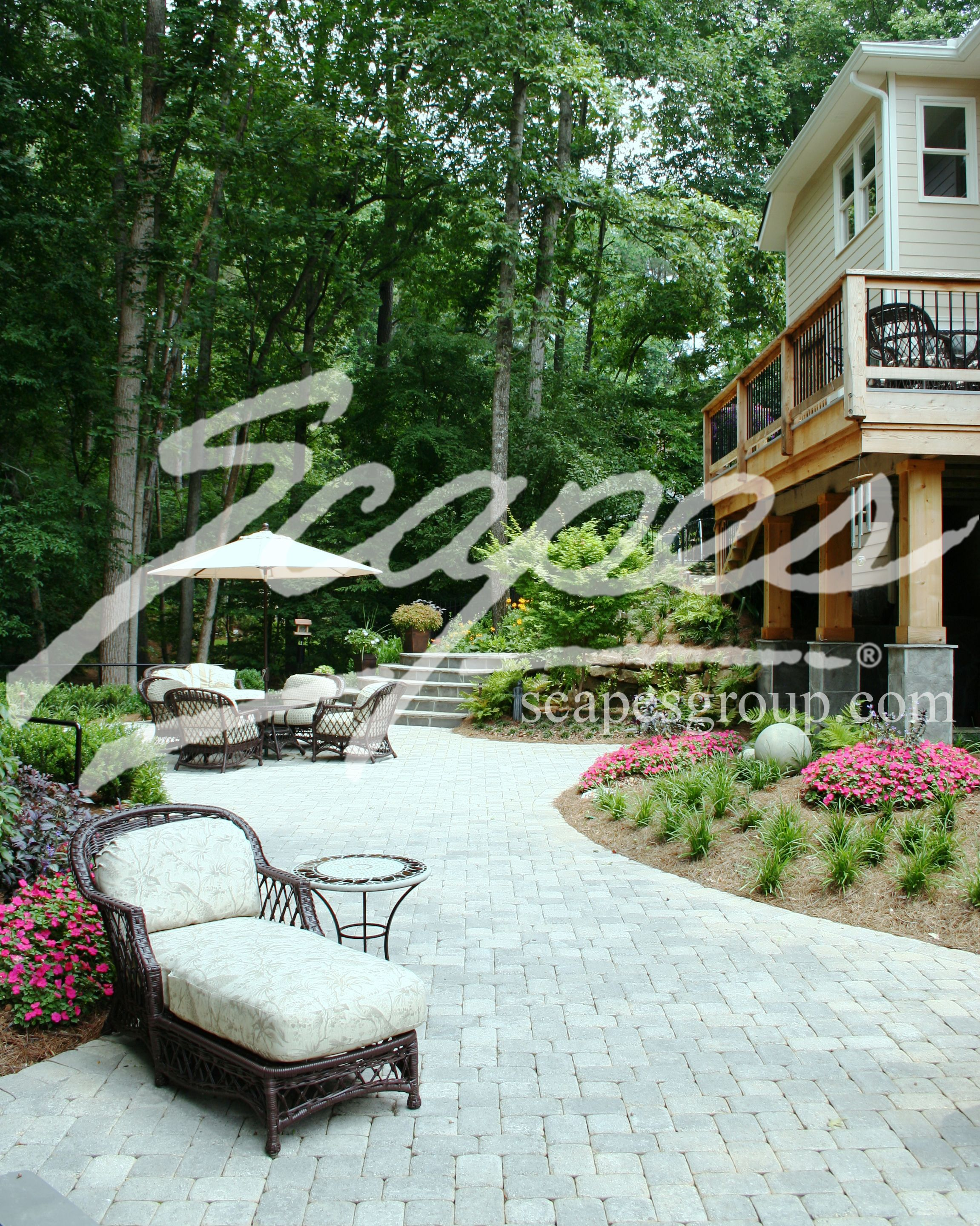 Dublin Cobble Paver Patio With Split Face West Virginia Stone Wall   Patio    Pinterest   Stone Walls, Patios And Backyard