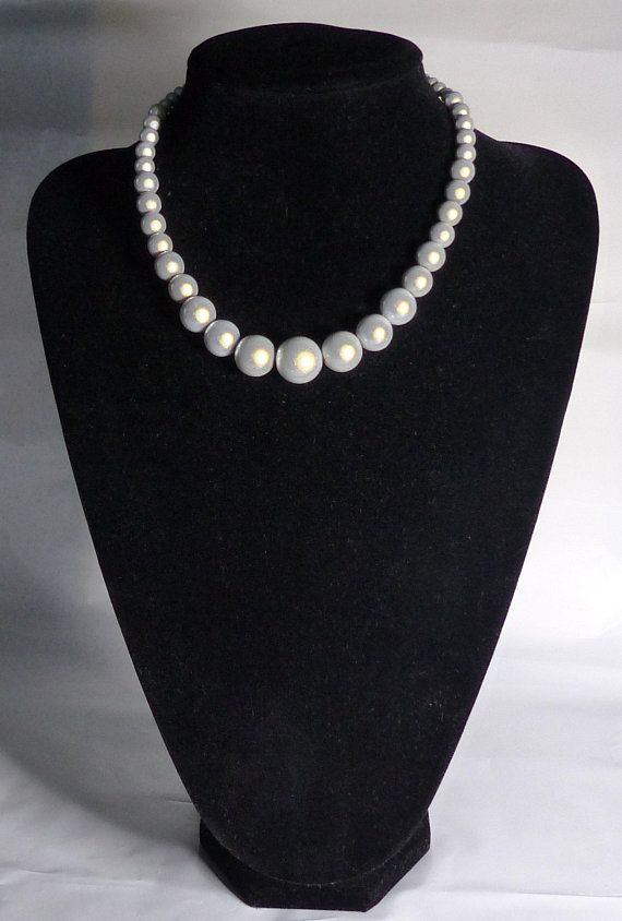b5ec9f9d65ca Graduated Miracle bead/glow bead necklace in ice white   Perles Magiques  Devon   Beads, Beaded necklace, Bead jewellery