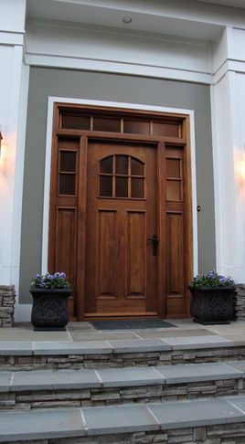 Craftsman appeal. Front doors are the feature that say: \