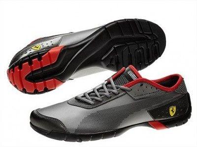 Tênis Puma Men's Ferrari Future Cat Super LT SL Men's Shoes Aged Silver  Black #tenis