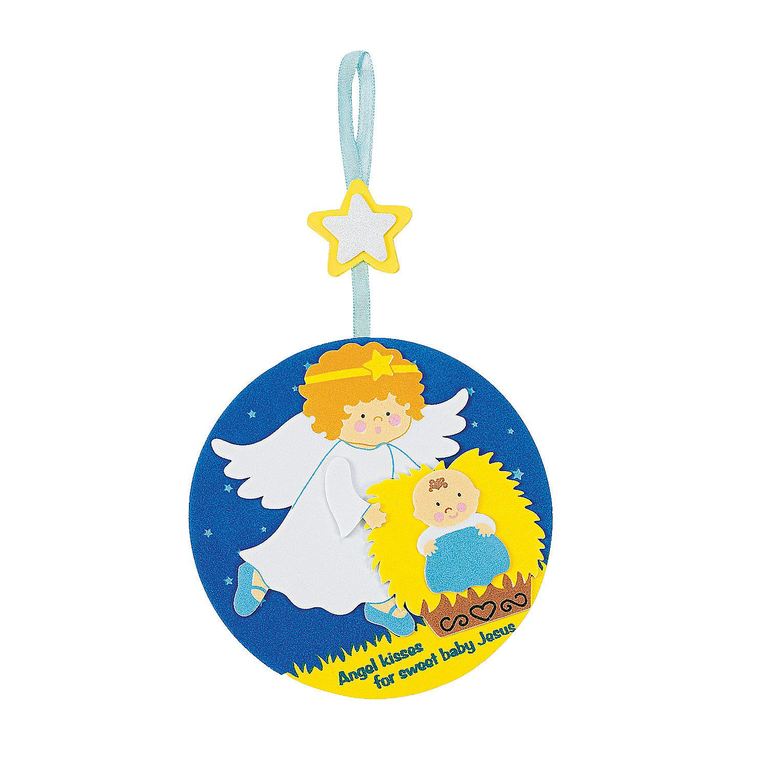 angel kissing baby jesus christmas ornament craft kit orientaltradingcom
